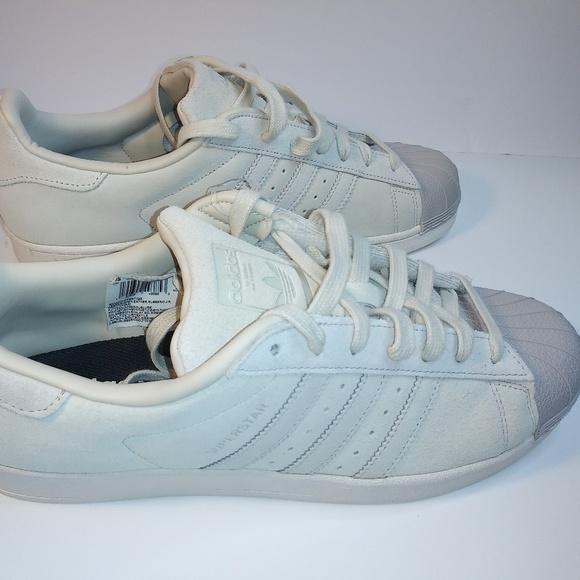 Adidas Superstar Low Top Beige Brown Marcia Leathe Adidas